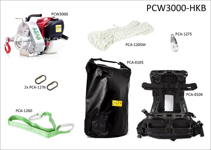 Spillwinde Portable Winch Set PCW3000-HKB