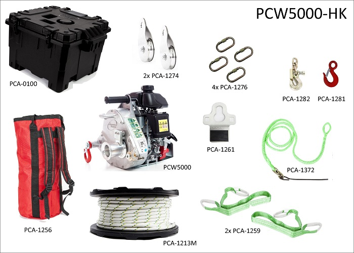 Spillwinde Portable Winch Set PCW5000-HK